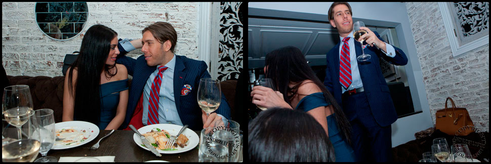 Justin Ross Lee & girlfriend Regina Brawer at MPD in the Meatpacking District
