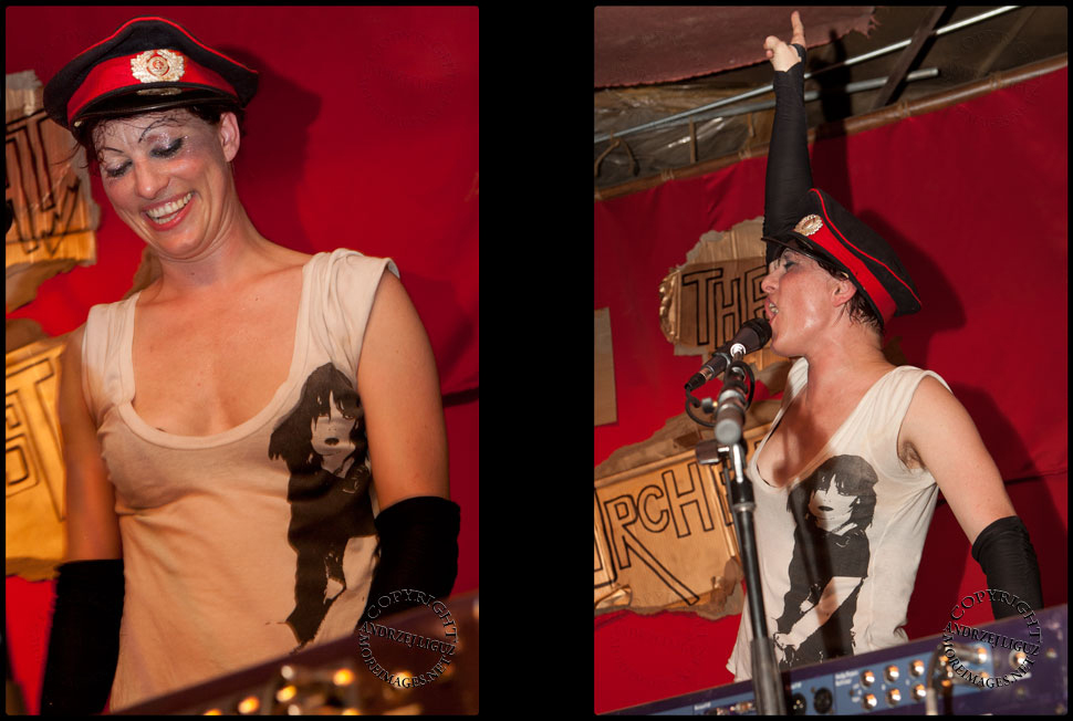 Amanda Palmer performs for the After Party at the Gemini Scorpio Loft Space
