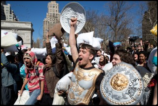 International Pillow Fight Day Creates Feather Flying Madness