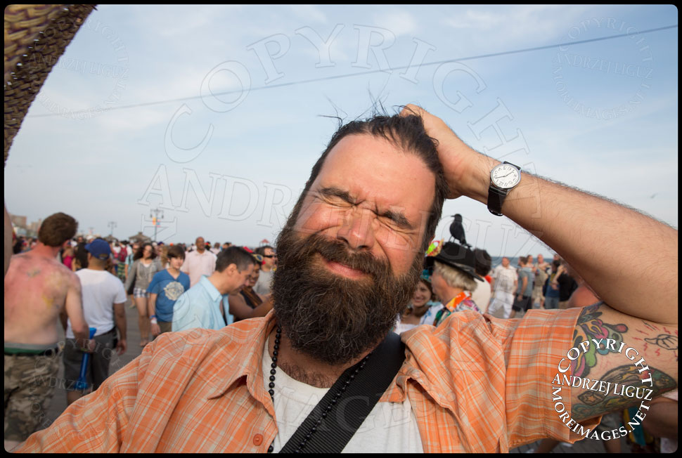 Film Maker Jim Muscarella at Coney Island Mermaid Parade 2013 © Andrzej Liguz/moreimages.net. Not to be used without permission