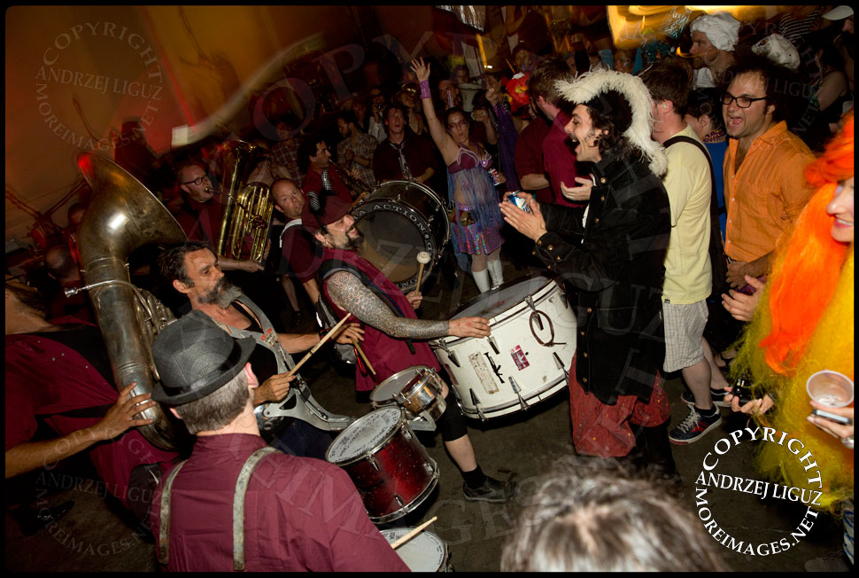 Extra Action Marching Band performing during the Drunken Mermaid Gala at Gowanus Ballroom © Andrzej Liguz/moreimages.net. Not to be used without permission