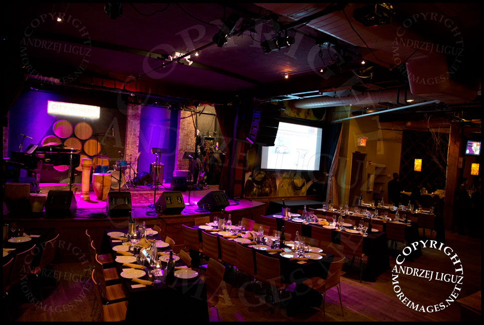 City Winery ready for the African Childrens Choir 5th Annual NYC ChangeMakers Gala  © Andrzej Liguz/moreimages.net. Not to be used without permission