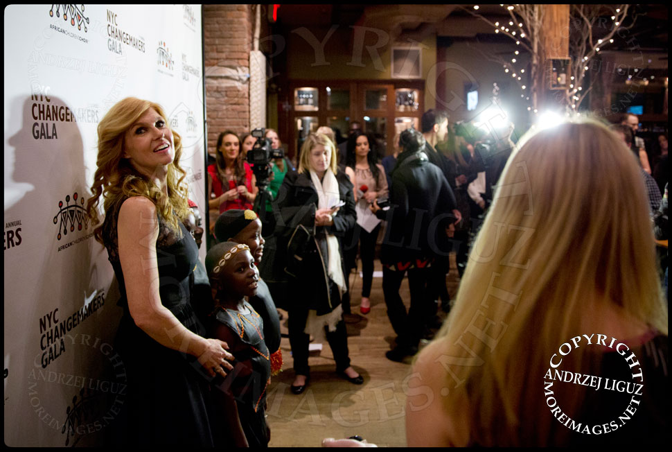 Actress Connie Britton with members of the African Childrens Choir at their 5th Annual NYC ChangeMakers Gala  © Andrzej Liguz/moreimages.net. Not to be used without permission