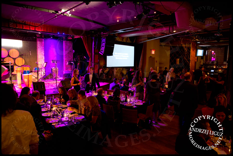 City Winery filling up with people at the African Childrens Choir 5th Annual NYC ChangeMakers Gala  © Andrzej Liguz/moreimages.net. Not to be used without permission