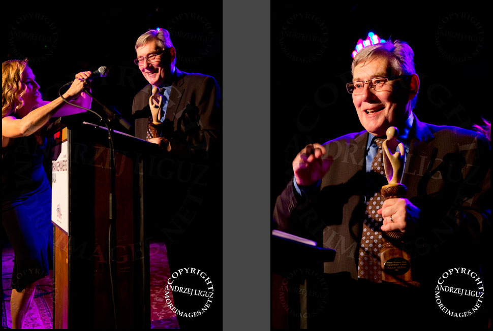 Ray Barnett honoring Connie Britton prior to presenting her with the ChangeMaker Award at the African Childrens Choir 5th Annual NYC ChangeMakers Gala © Andrzej Liguz/moreimages.net. Not to be used without permission