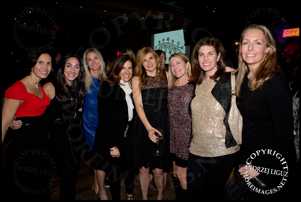 Connie Britton with her old college friends at the African Childrens Choir 5th Annual NYC ChangeMakers Gala  © Andrzej Liguz/moreimages.net. Not to be used without permission