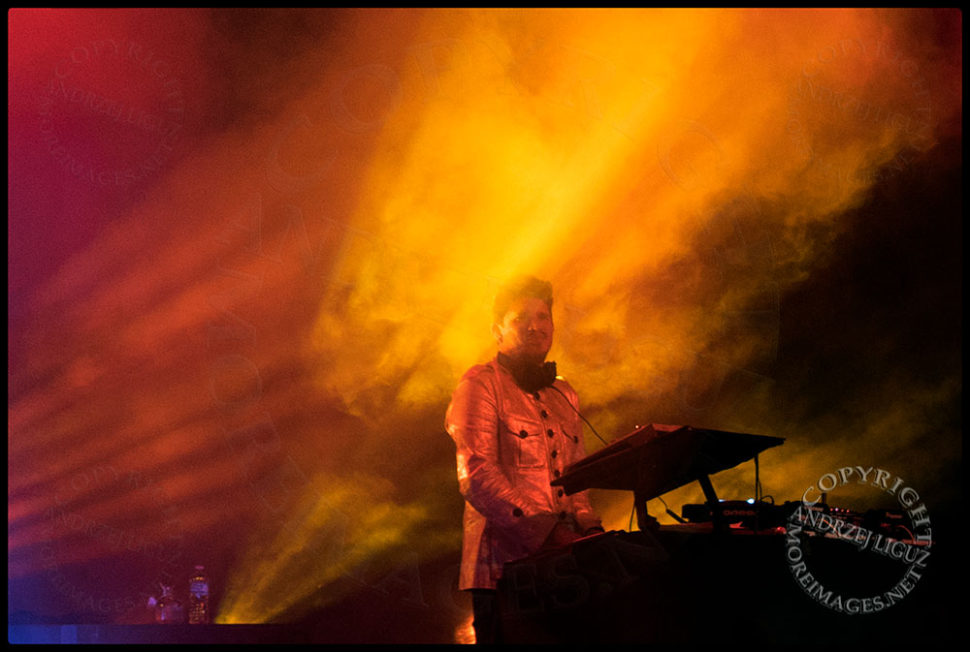 Rob Garza bathed in light at the Greek Theater in LA