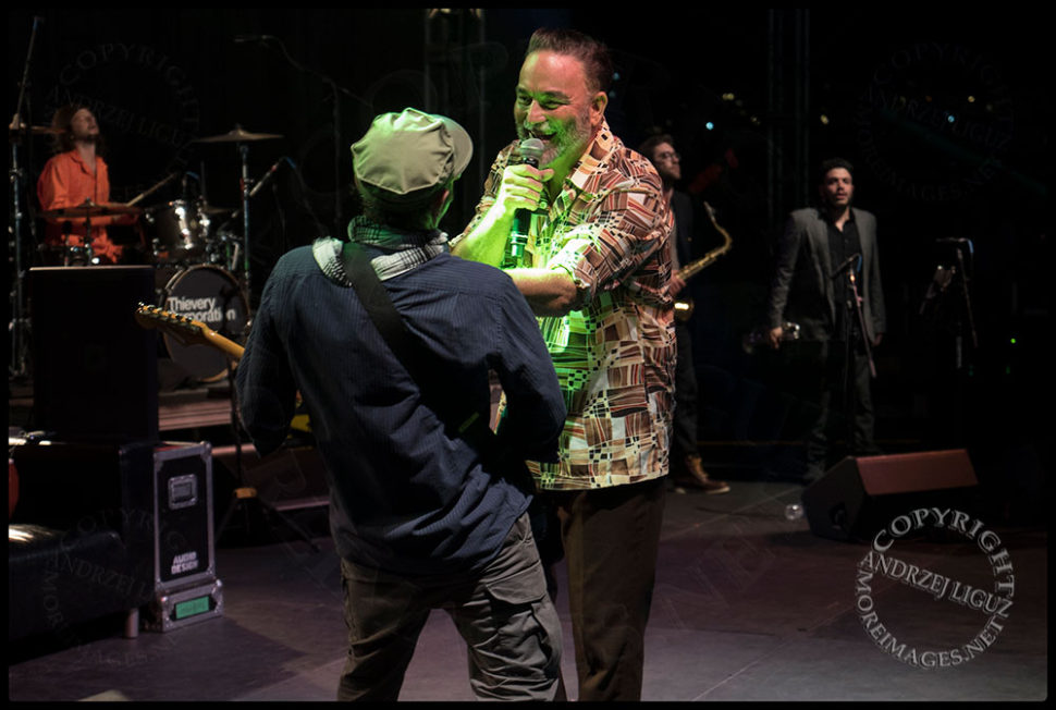 Frank Orral and Robbie Myers share a moment at the San Diego County Fair