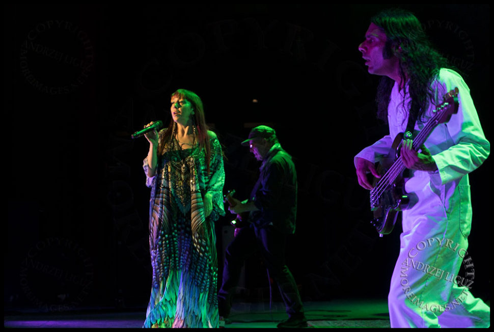 Natalia Clavier with Robbie and Hash at the Greek Theater in LA