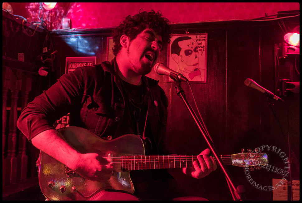 Kris Escajeda aka NK Riot performing at The Ugly Truth Songwriter Night