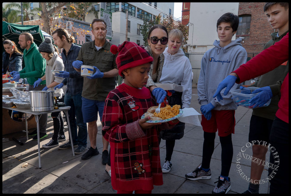 This little girl broke hearts, San Julian Park, Skid Row. LA, Christmas Day 2018