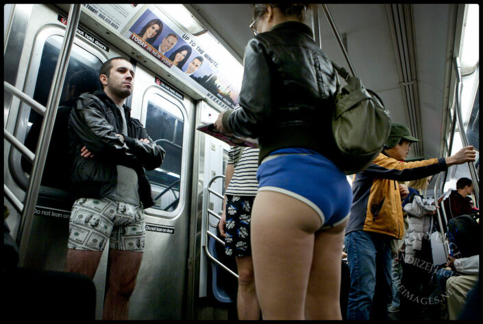 No Pants Subway Ride, NYC, NY