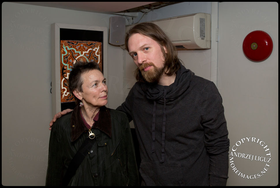 Laurie Anderson with Gralbum Founder Sarth Calhoun © Andrzej Liguz/moreimages.net. Not to be used without permission