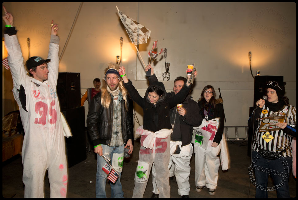 The 'Nascart' team receiving their 'Nice' Idiotarod Award at Gowanus Ballroom © Andrzej Liguz/moreimages.net. Not to be used without permission