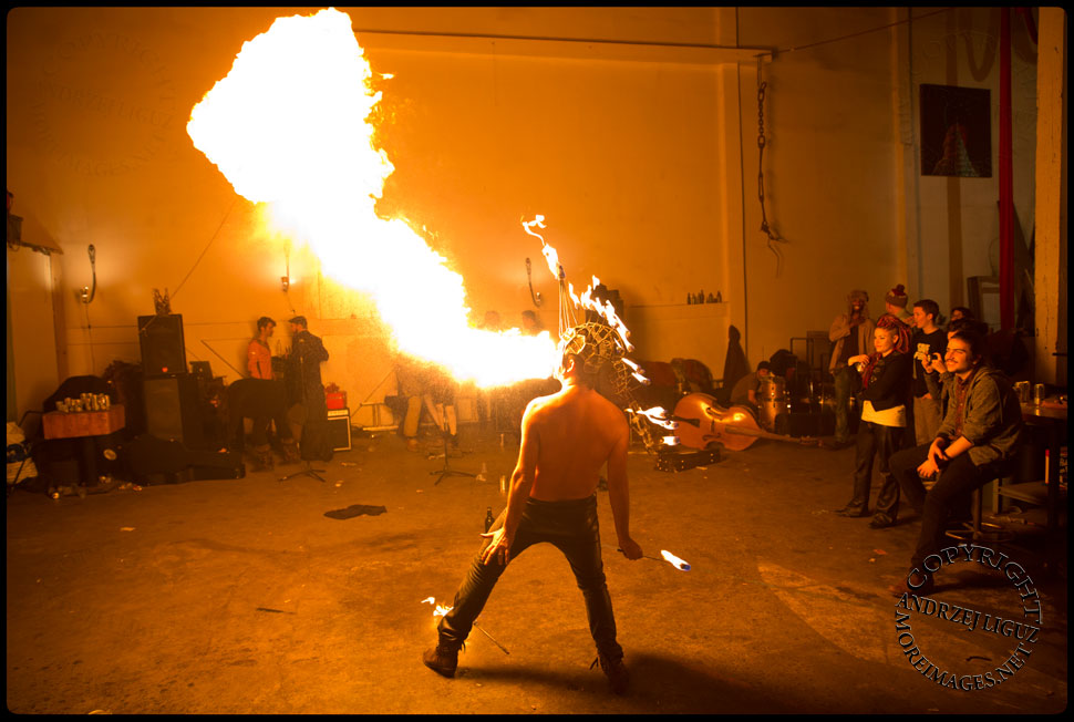 Flambeaux performing at the Cirque de Idiotarod Afterparty in Gowanus Ballroom © Andrzej Liguz/moreimages.net. Not to be used without permission