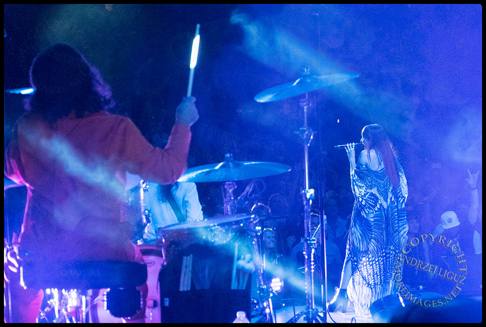 Natalia Clavier with Jeff on drums at the Greek Theater in LA