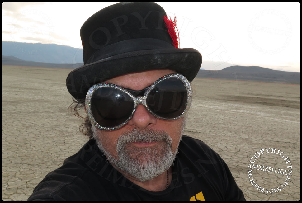 Selfie by Andrzej Liguz at Burning Man © Andrzej Liguz/moreimages.net. Not to be used without permission